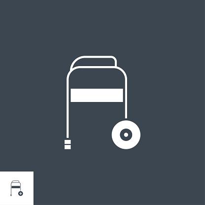 Walker related vector glyph icon.