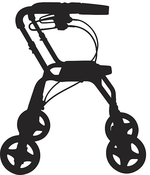 Royalty Free Mobility Walker Clip Art, Vector Images ...