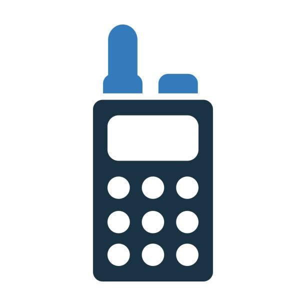 illustrations, cliparts, dessins animés et icônes de icône talkie-walkie / graphiques vectoriels - commissariat