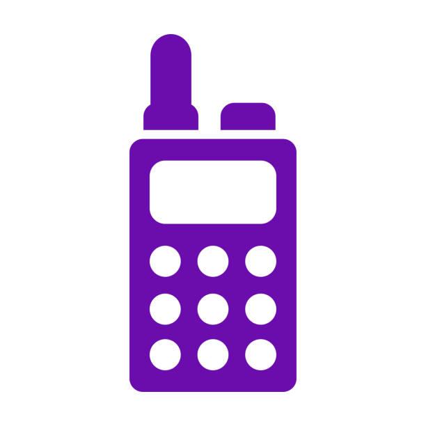 illustrations, cliparts, dessins animés et icônes de icône talkie-walkie / couleur violette - commissariat