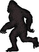 walking bigfoot silhouette