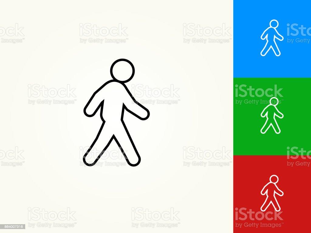 Ilustración de Caminando El Icono Lineal De Movimiento Negro y más ...