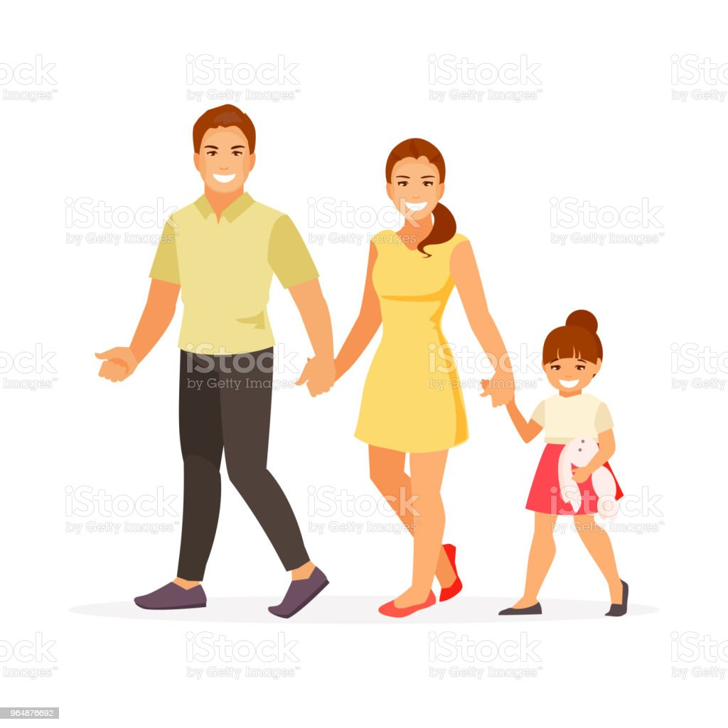 Walking family vector royalty-free walking family vector stock vector art & more images of adult