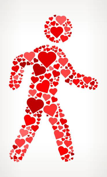 Walking In Love Clip Art: Royalty Free Heart Walk Clip Art, Vector Images
