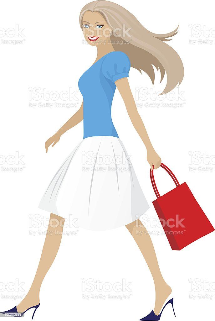 Walking girl royalty-free walking girl stock vector art & more images of adult