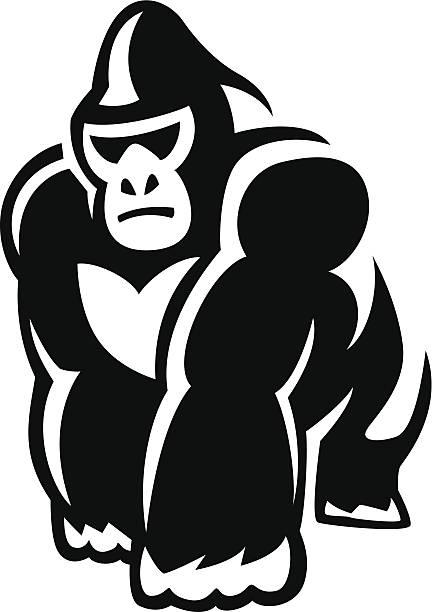 ウォーキング gorilla ベクターアートイラスト
