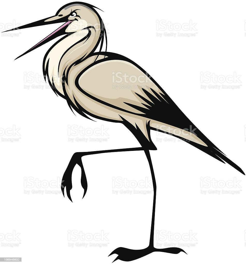 Walking Great Blue Heron Vector Illustration vector art illustration