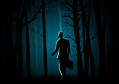 Walking in the dark forest