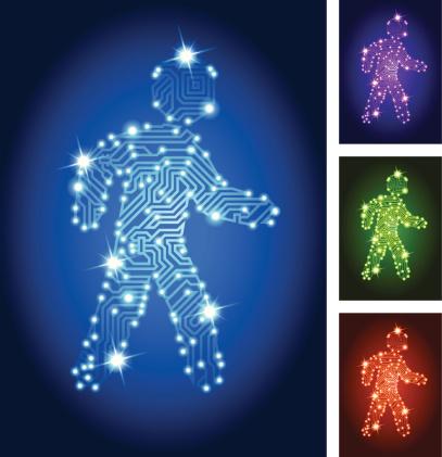 Walking Man Circuit Board Color Set