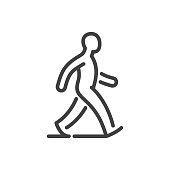 istock Walking man line icon 1160272511