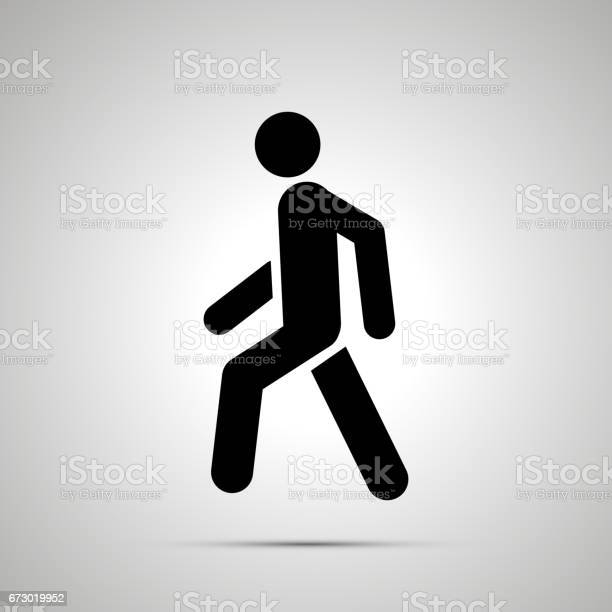 Walking man simple black icon with shadow vector id673019952?b=1&k=6&m=673019952&s=612x612&h=vuswsjr jv7w v8zsh7jhebsjzrb51cmtpmvwmouir8=
