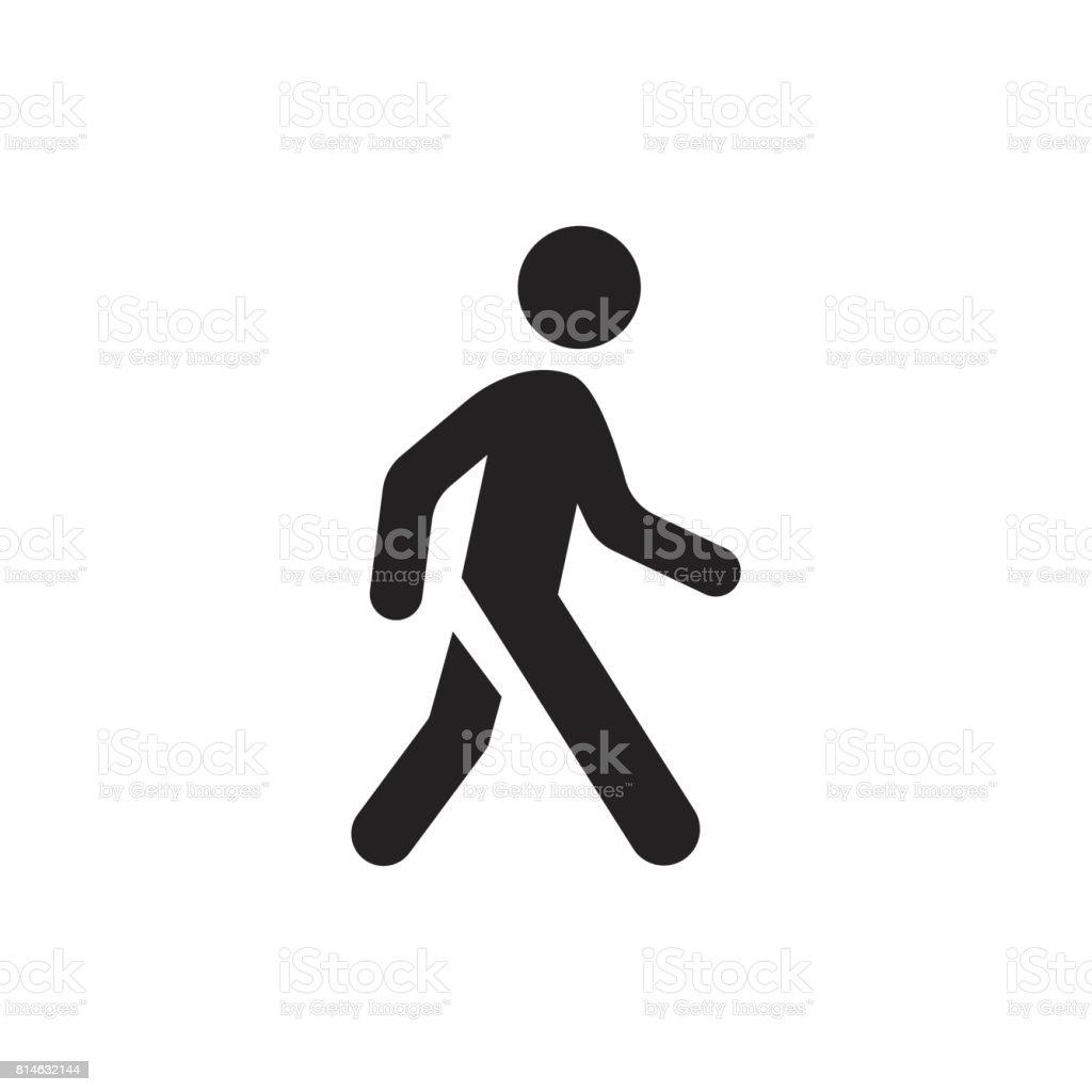 Walking man vector icon. People walk sign illustration. vector art illustration