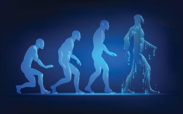 illustrazioni stock, clip art, cartoni animati e icone di tendenza di walking man - man evolution