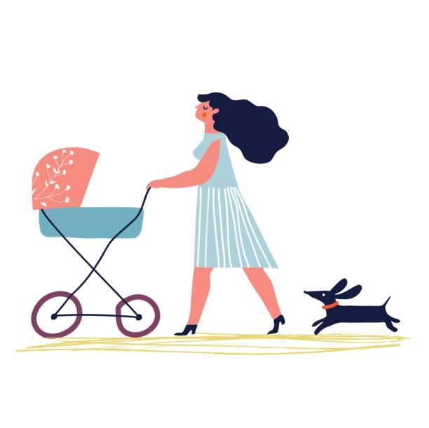 zu Fuß Mutter – Vektorgrafik