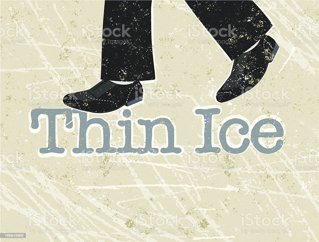 Walking on Thin Ice royalty-free stock vector art