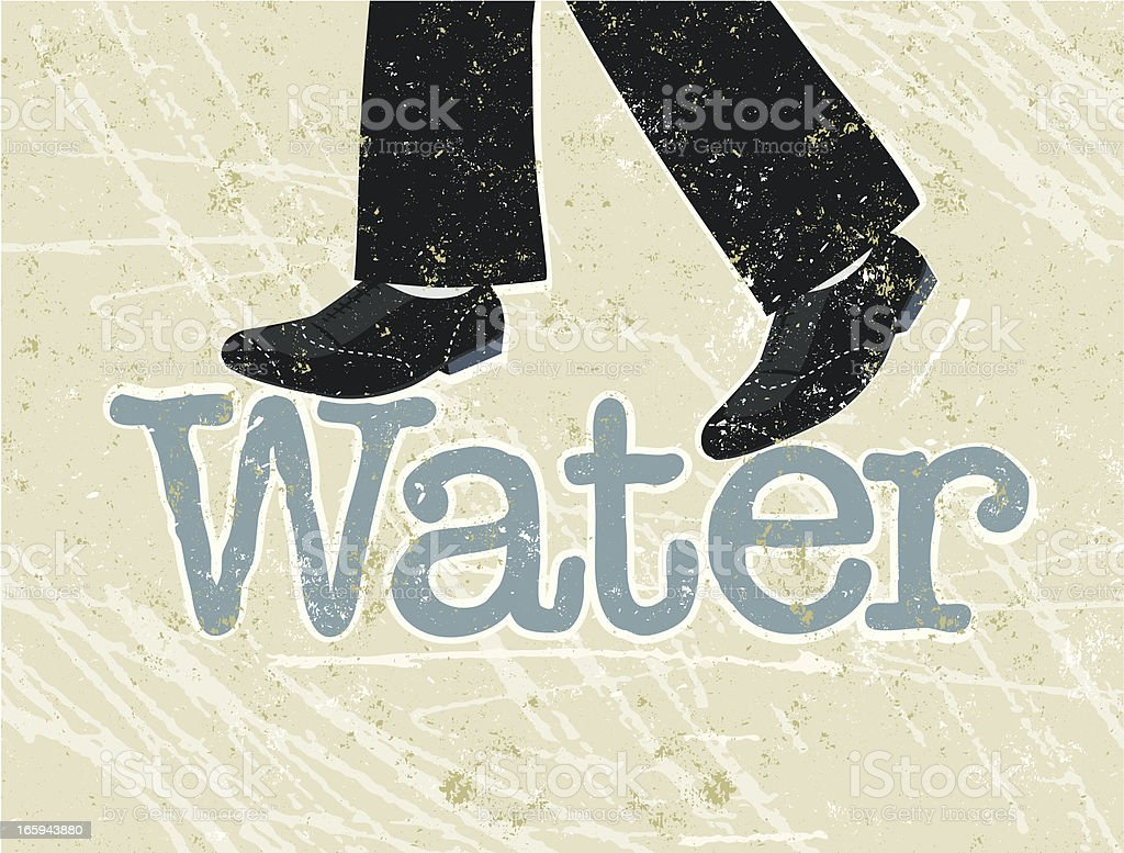 Walking on Water royalty-free walking on water stock vector art & more images of adult