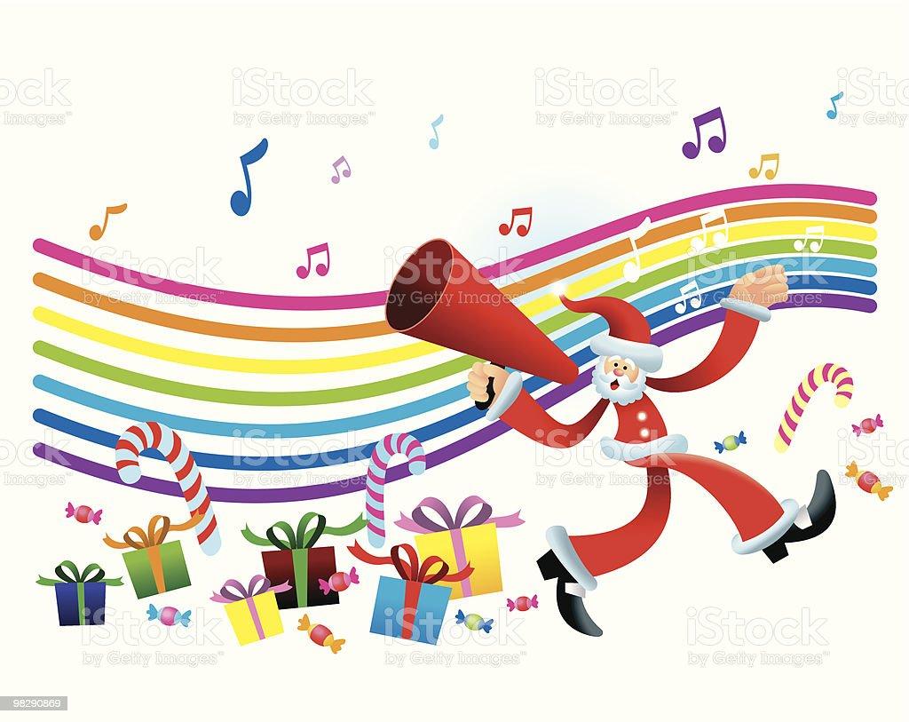Walking Santa Megaphone royalty-free walking santa megaphone stock vector art & more images of blue