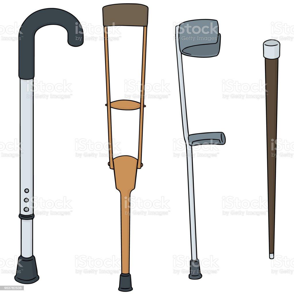 Walking Stick Stock Vector Art & More Images of Aluminum 953762538 ...