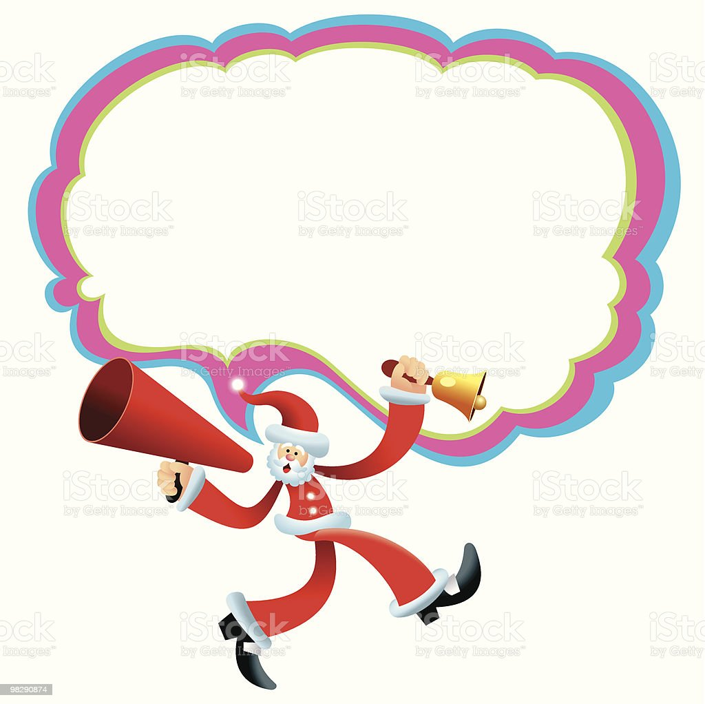 Walking Talking MegaPhone Santa royalty-free walking talking megaphone santa stock vector art & more images of bell