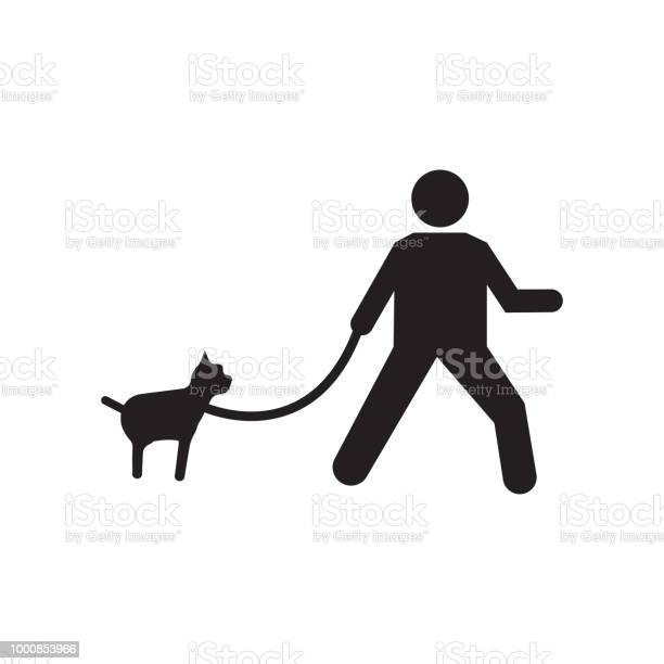 Walking the dog icon vector sign and symbol isolated on white the vector id1000853966?b=1&k=6&m=1000853966&s=612x612&h=gu8ul9p1uq6qexgiizbe6d6huvdisjnfsrfet7fug 8=