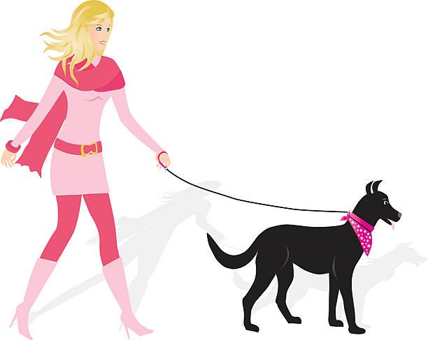 spaziergänge mit dem hund - pashminas stock-grafiken, -clipart, -cartoons und -symbole