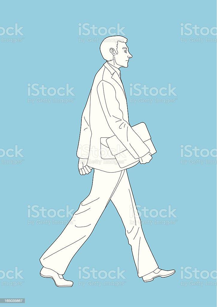 Walking royalty-free stock vector art