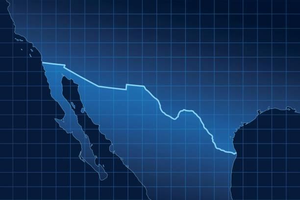 Wall between USA and Mexico Wall between USA and Mexico border patrol stock illustrations