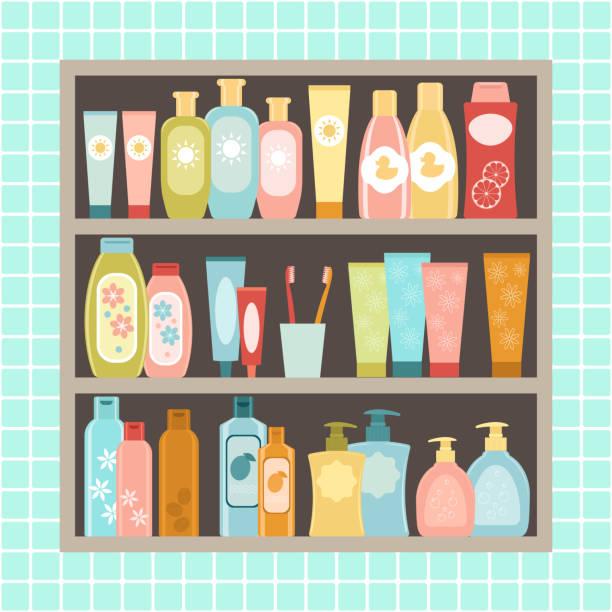 Bathroom Cabinet Clip Art: Best Soap Dispenser Wall Illustrations, Royalty-Free