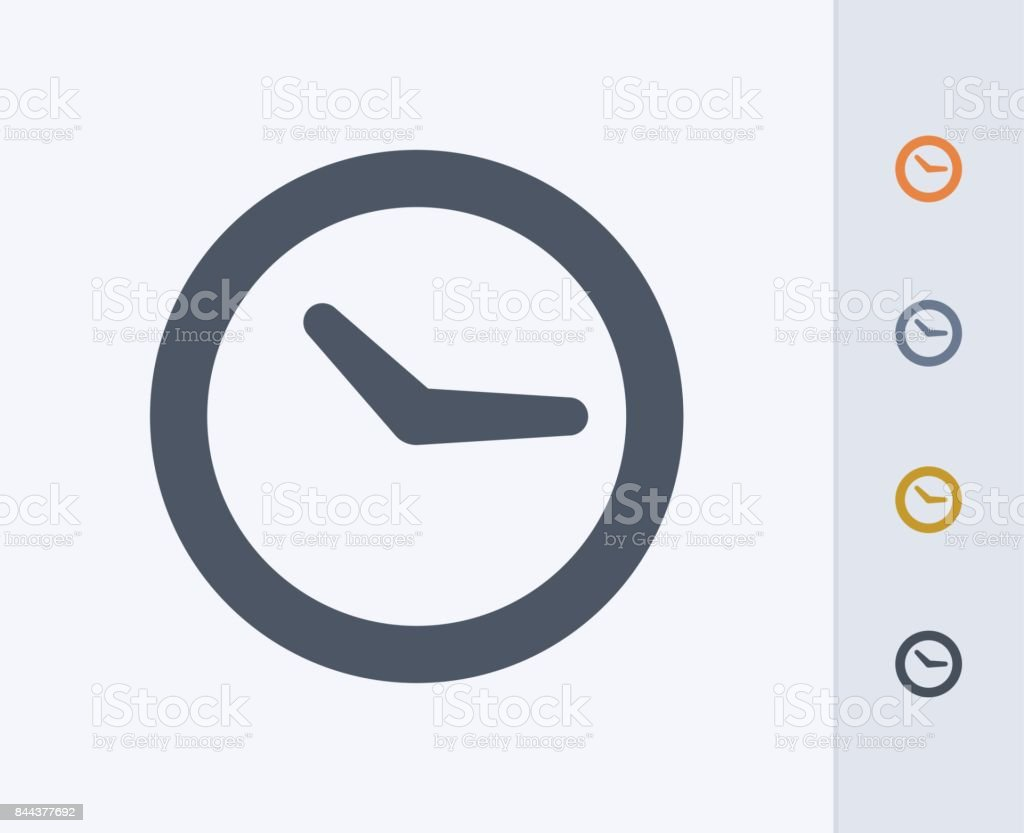 Wall Clock - Carbon Icons vector art illustration