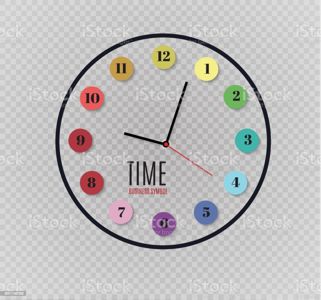 Wall clock office template design in vector closeup the layout for wall clock office template design in vector closeup the layout for branding and advertising ccuart Image collections