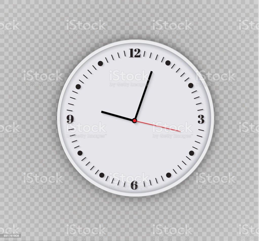 Ilustración de Oficina De Reloj De Pared Diseño De Plantilla De ...