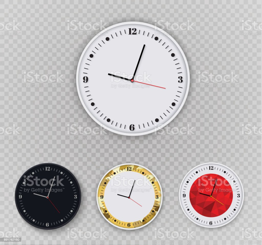 office wall clocks large. Wall Clock Office. Template Design In Vector Closeup. The Layout For Branding And Advertising Office Clocks Large