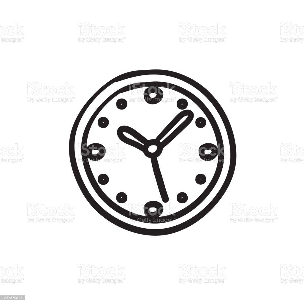 Ilustracion De Icono De Dibujo De Reloj De Pared Y Mas Banco De