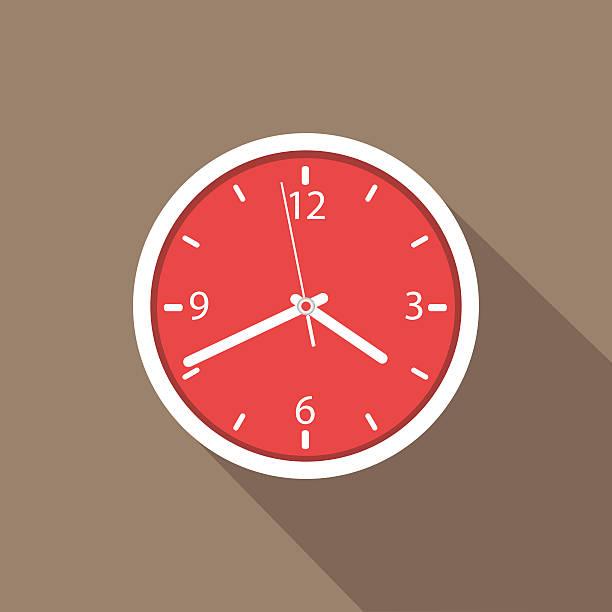Wall clock Wall clock, clock icon. wall clock stock illustrations