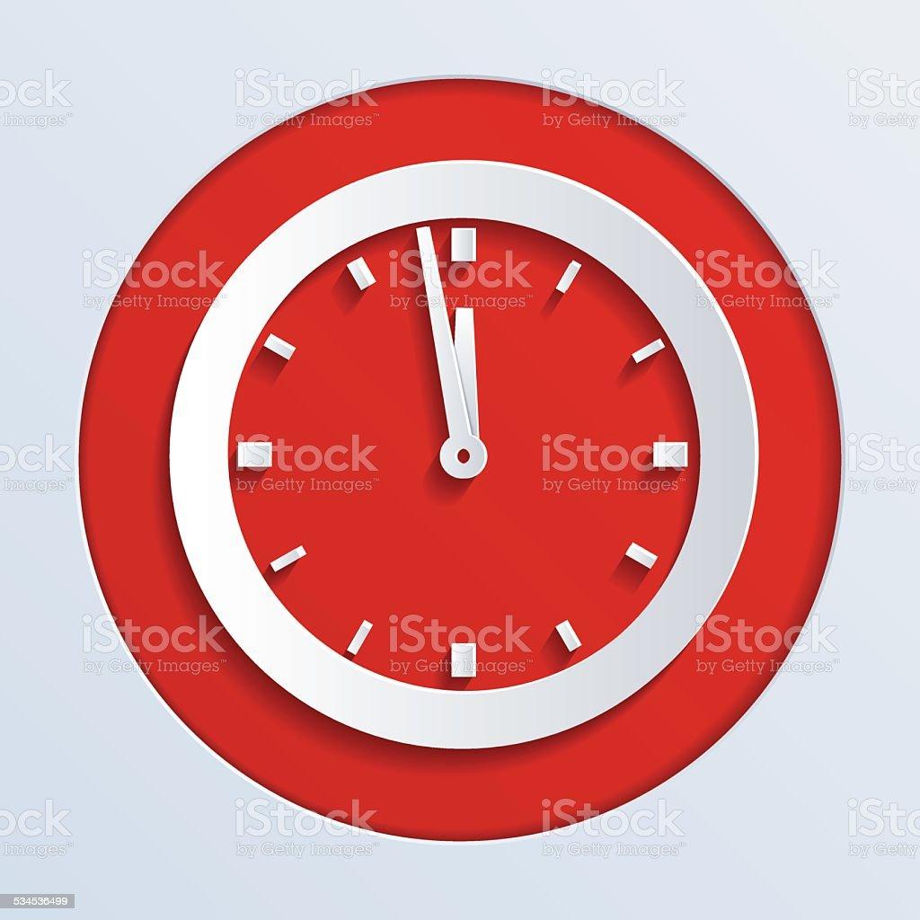 Wall Clock vector art illustration