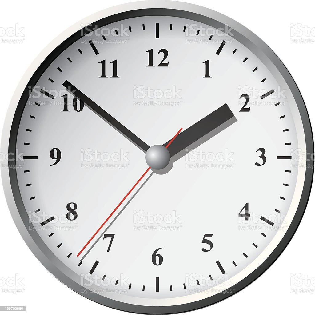 Wall clock. Vector illustration. royalty-free stock vector art