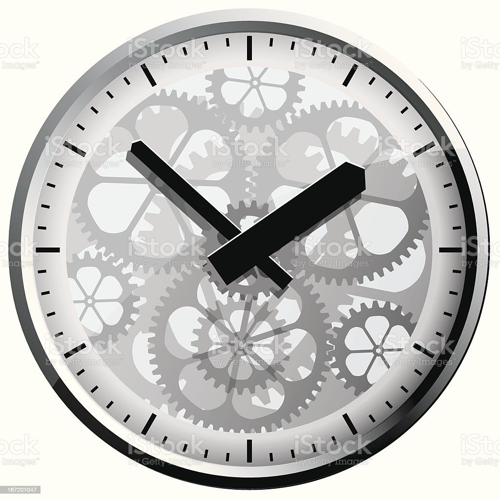 Wall clock. Vector illustration. royalty-free wall clock vector illustration stock vector art & more images of circle