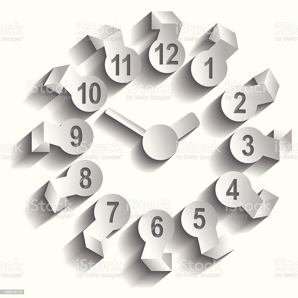 Wall clock. Vector illustration. royalty-free wall clock vector illustration stock vector art & more images of clock
