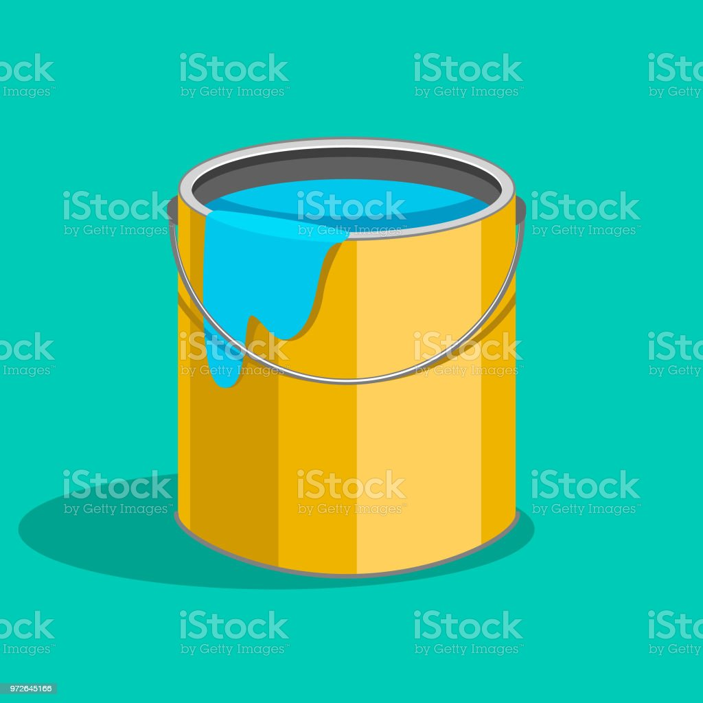 Wall Color Container Stock Vector Art & More Images of Can 972645166 ...