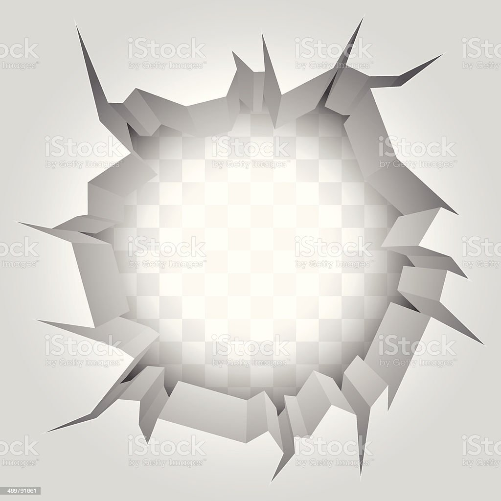 Wall crack. vector art illustration