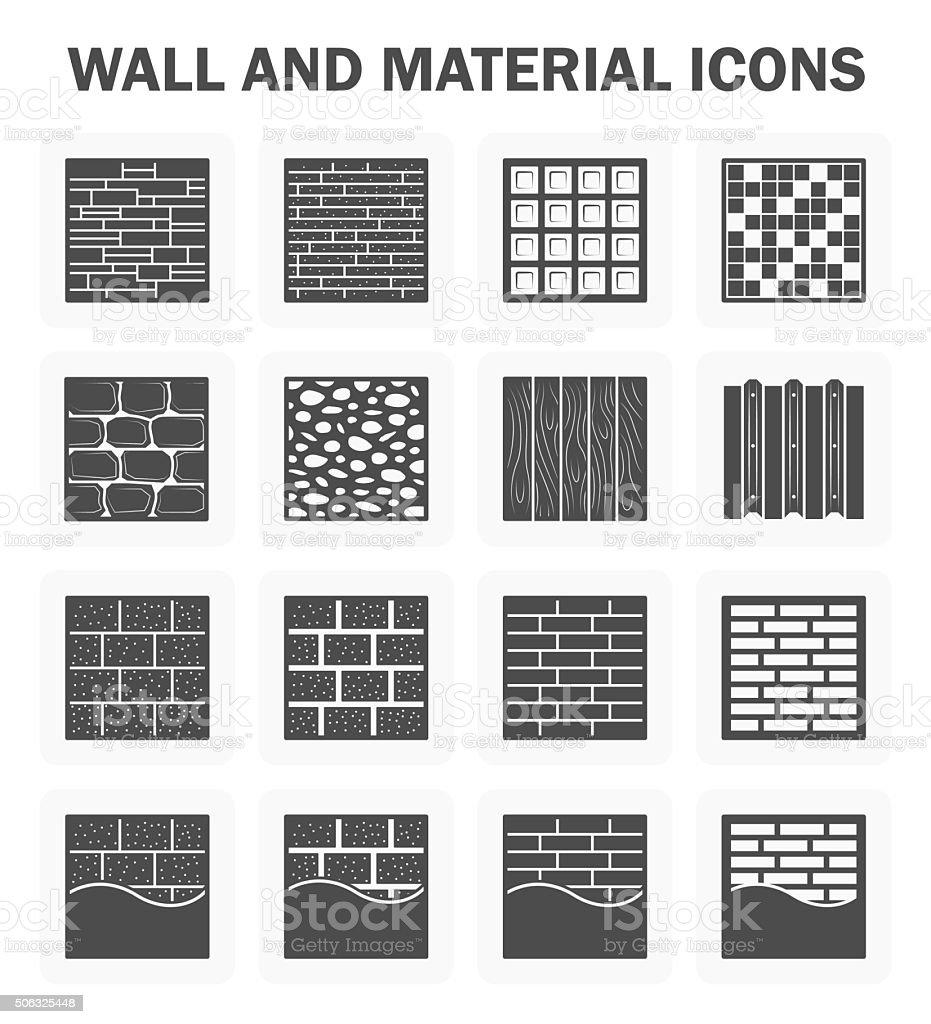 Wall icon vector art illustration