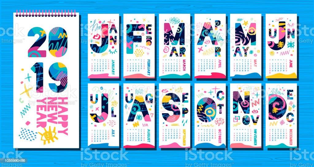 Wall Monthly Calendar Template 2019 Vertical Monthly Calendar