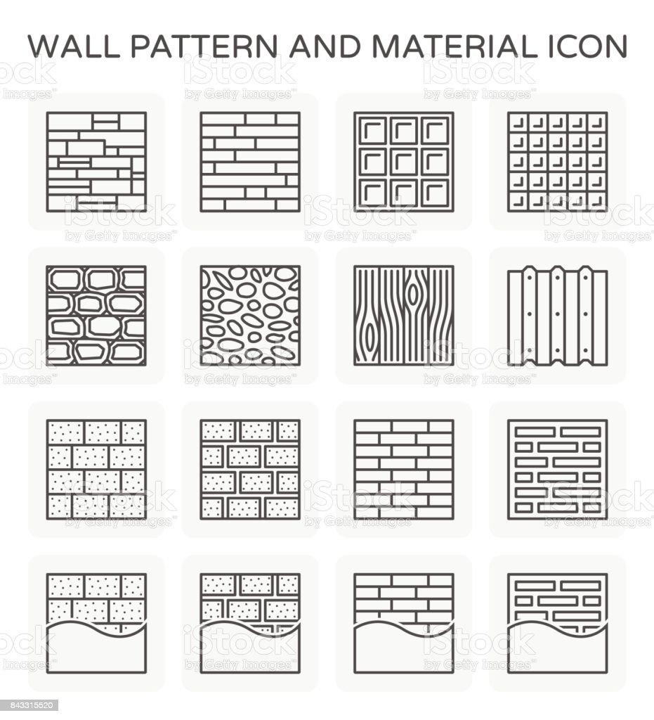 wall pattern icon vector art illustration