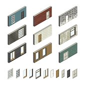Wall patterns with doors and windows
