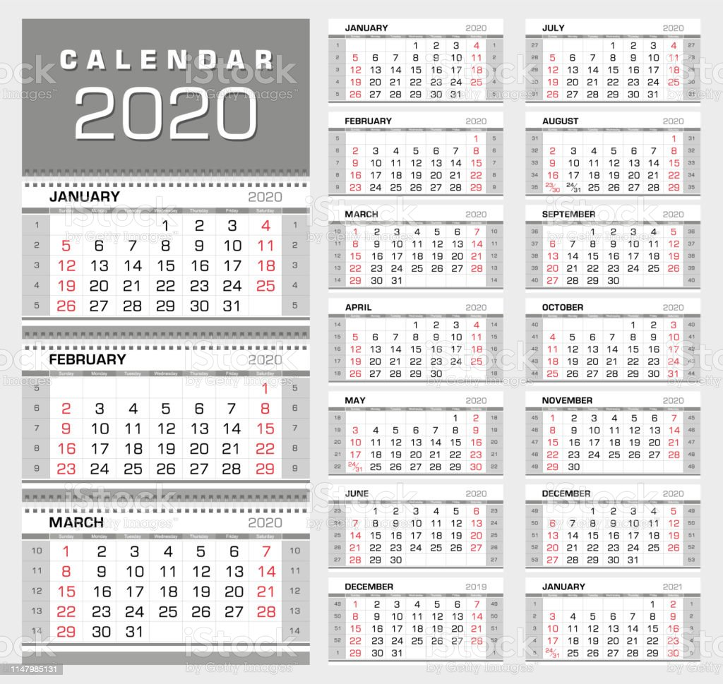 Calendar 2020 With Week Numbers Wall Quarterly Calendar 2020 With Week Numbers Week Start From