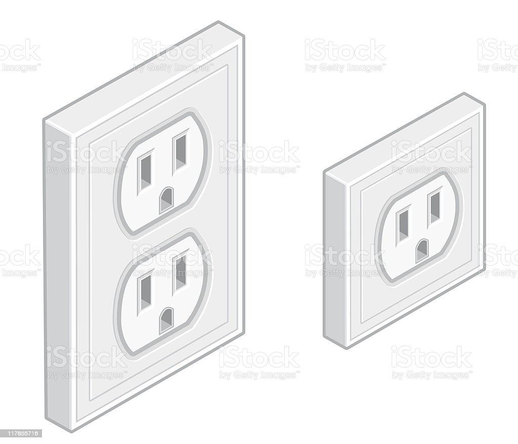 Wall Socket Plug Icon royalty-free wall socket plug icon stock vector art & more images of clip art