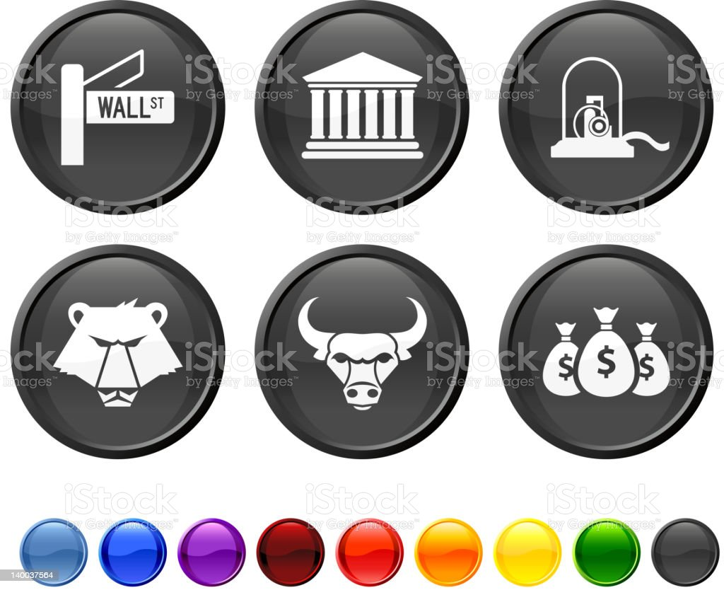 wall street royalty free vector icon set royalty-free wall street royalty free vector icon set stock vector art & more images of animal