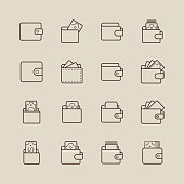 istock Wallet and Money Icons 950240224