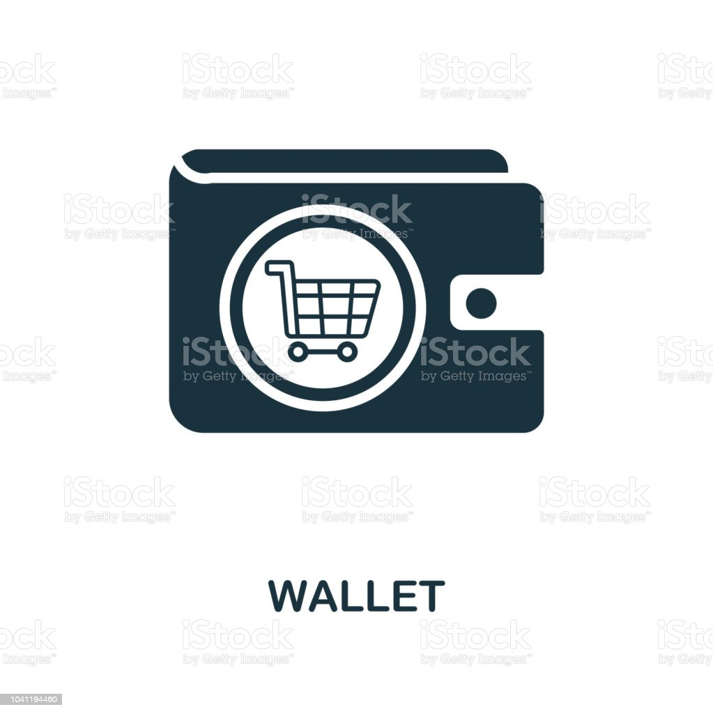 Wallet Icon Monochrome Style Design From Ecommerce Icon Collection