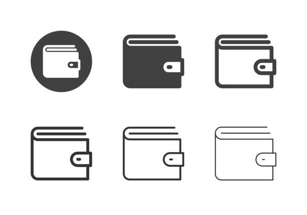 Wallet Icons - Multi Series vector art illustration